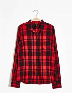 chemise a carreaux rouge et noire femme o jennyfer With chemise femme carreaux rouge et noir