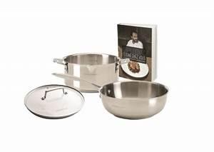 Casserole Cyril Lignac : set casserole cyril lignac inox tout feux 1 livre casserolerie but ~ Melissatoandfro.com Idées de Décoration