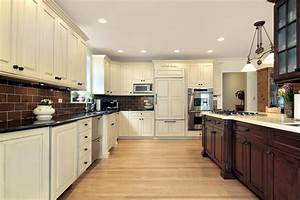 "31 ""New"" Custom White Kitchens with Wood Islands"