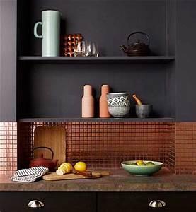 Adhesif Credence Cuisine : cr dence cuisine en carrelage adh sif cuivre ~ Melissatoandfro.com Idées de Décoration
