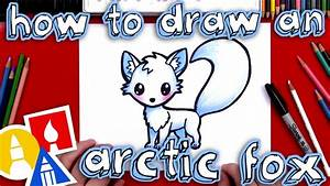 How To Draw An Arctic Fox Youtube