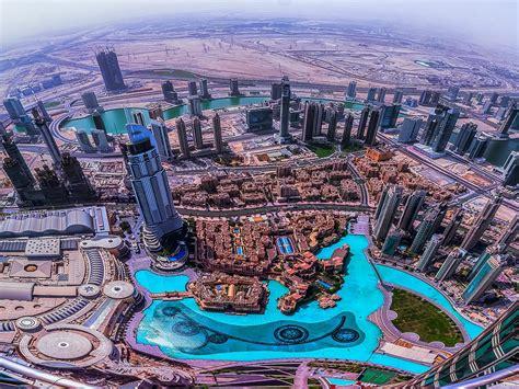 dubai aerial view   top  burj khalifa desktop hd