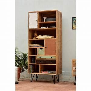 Bibliothèque Design Bois : biblioth que vintage en bois multicolore fusion by drawer ~ Teatrodelosmanantiales.com Idées de Décoration