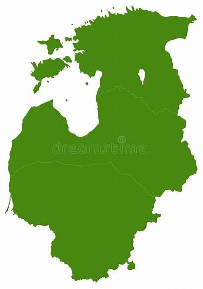 Baltische Baltic Staten Kaart Nations Countries Map