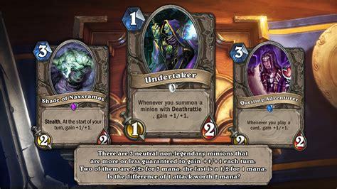 hearthstone deck list addon hearthstone s powerful undertaker minion card to be nerfed