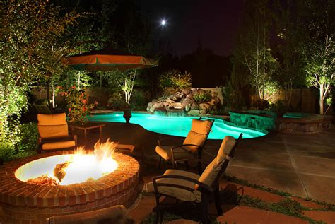 outdoor pool lighting ideas water feature pond and pool lighting ideas and pictures