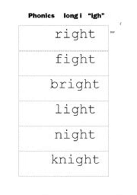 english worksheets phonics long i quot igh quot