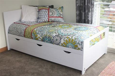 hand crafted twin bed  storage  kbj woodworks