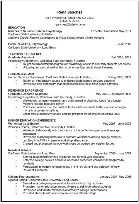 cv template graduate school admission cv template graduate