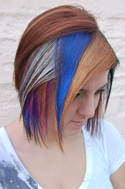 multi color hair styles multi colored hairstyles the haircut web