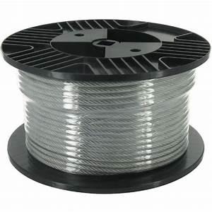 Gaine Pour Cable : cable acier gain pvc bobine de 50m diam tre c ble achat ~ Premium-room.com Idées de Décoration