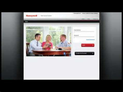 honeywell total connect comfort honeywell total connect comfort services account