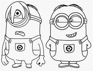 Desenhos para colorir minions - Desenhos para colorir minions