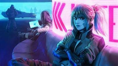 Cyberpunk 4k Wallpapers Woman Arkadia Astree Futuristic
