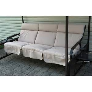menards glider swing replacement cushions set of 3