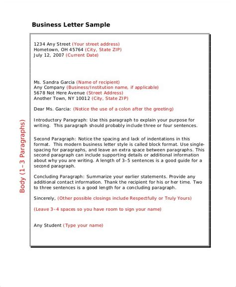 business letter format   word  documents