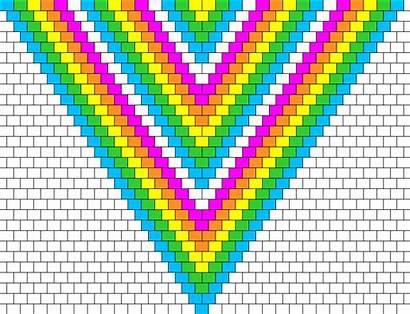 Rainbow Neon Bandana Pattern Patterns Bead Simple