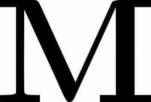 clipart cyrillic letter m With giant letter m