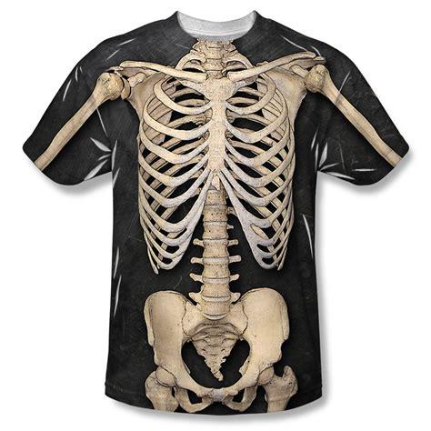 Skeleton Shirt Skeleton Costume Sublimation Shirt Mens