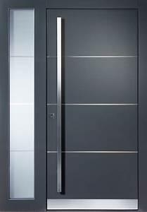 Deko Haustüre Eingangsbereich : haust ren modern grau mit seitenteil haus deko ideen ~ Whattoseeinmadrid.com Haus und Dekorationen