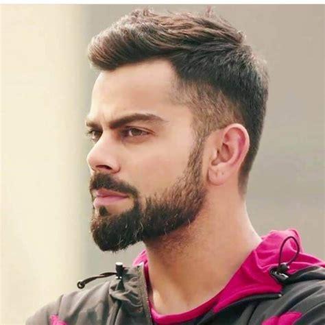 virat kohli hairstyle short hair  beard virat