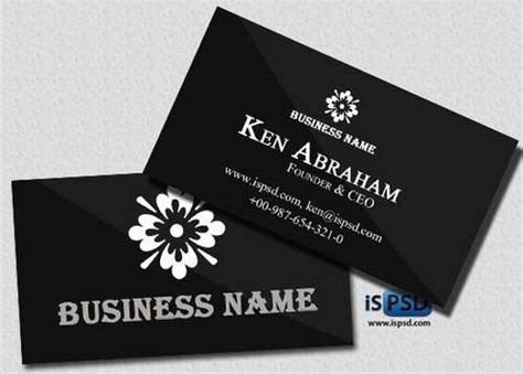 absolutely  dark  black business card templates
