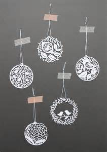 Cut Paper Christmas Ornaments