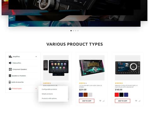 Car Audio Configurator by Stereocar Car Audio Store Magento Theme 66051