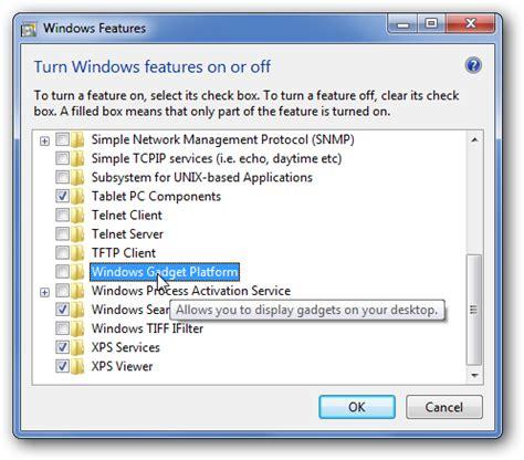 gadgets bureau windows 7 disable sidebar desktop gadgets on windows 7