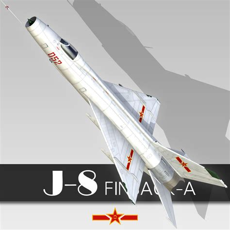 Chinese Fighter J-8 Finback 3d Model Max