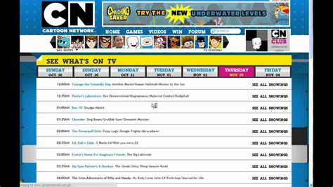 Cartoon Network Schedule 2011