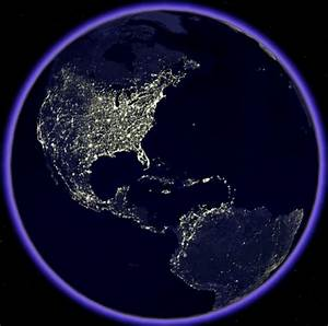 Planet Earth From Space At Night   Beautiful Scenery ...