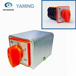 Manual Transfer Switch 20a 4kw 4 Pole 3 Position High