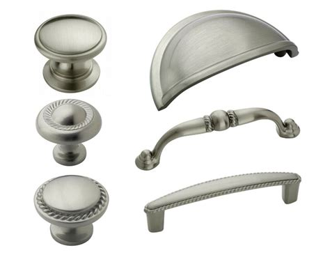 Kitchen Knobs And Pulls by Amerock Satin Nickel Rope Cabinet Hardware Knobs Pulls