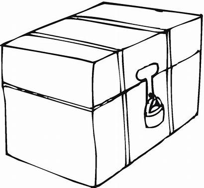 Coloring Box Pages Boxes Lunch Lock Safety