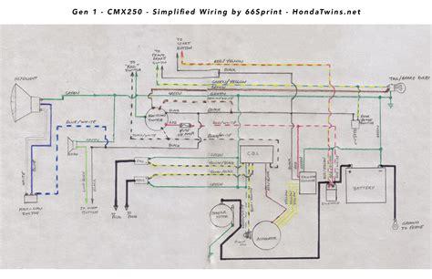 Gen Honda Cmx Rebel Simplified Wiring Diagram