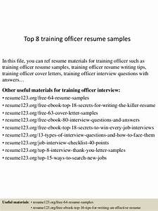 top 8 training officer resume samples With field training officer resume