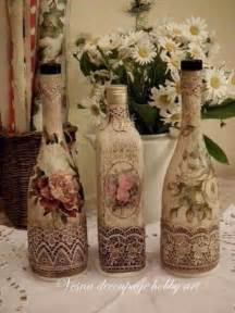 Decorative Wine Bottles Pinterest how to decorate glass bottles with decoupage diy recycle