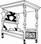 Bed Bedroom Furniture Coloring Pages sketch template