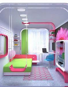 Stylish colorful bedrooms for girls