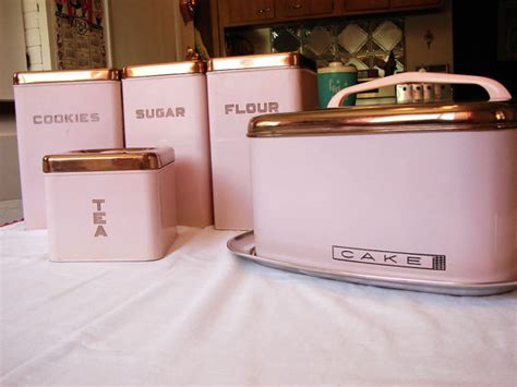 pink kitchen canisters pink lincoln beautyware canister set and cake carrier