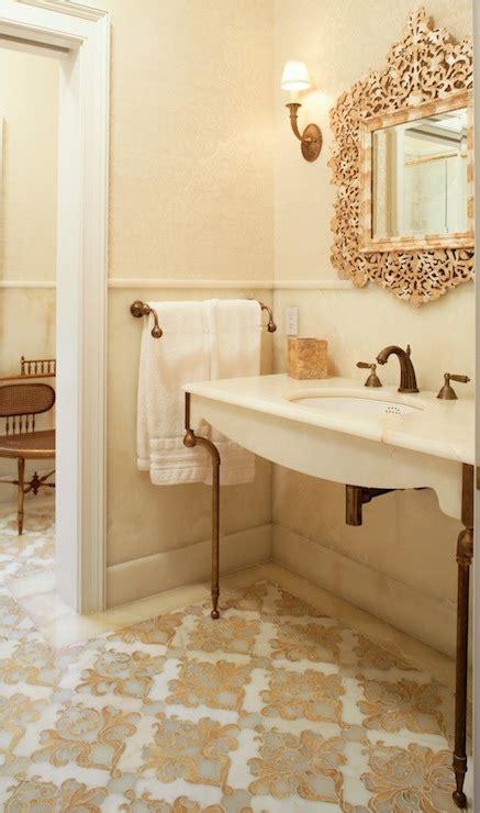 moroccan tile floor mediterranean bathroom carole
