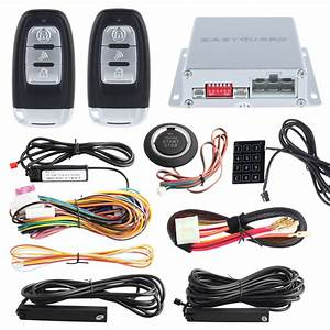 Push Button Start Pke Car Alarm With Remote Engine Start