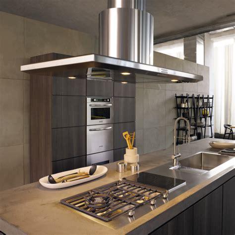 ilot centrale cuisine hotte îlot pratique et convivial pour une cuisine moderne
