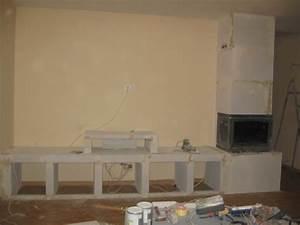 meuble tv beton cellulaire meuble et deco With meuble en beton cellulaire
