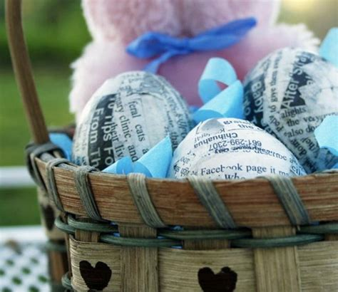 easter egg decorating ideas  recycled materials