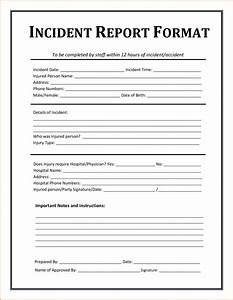 5 incident report template authorizationlettersorg With fire incident report form template