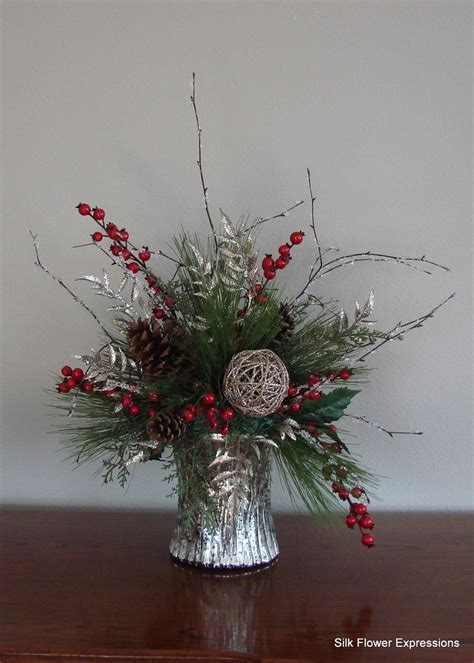 10 best images about christmas silk flower arrangements on