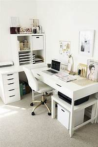 White, Desk, Ideas, For, Modern, Home, Office, Design, Part, 30