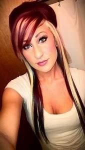 Brown Hair With Blonde Peekaboo Fashion39s Feel Tips